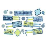 Blue Harmony Class Management Mini Bulletin Board Set