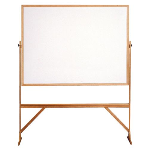 Free-Standing Reversible Board, Wood Frame Double Sided Markerboard ...