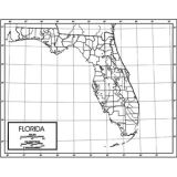 Outline Map, Laminated, Florida
