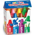 Rainbow Color Crayons Sorting Set