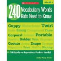 240 Vocabulary Words Kids Need to Know, Grade 4