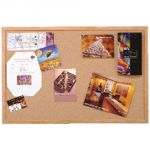 Wood Frame Natural Corkboard, 18
