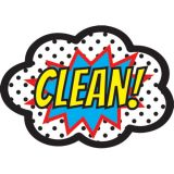 Magnetic Whiteboard Eraser, Superheroes CLEAN!