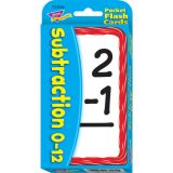Subtraction Pocket Flash Cards