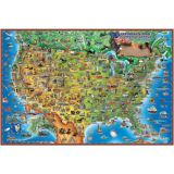 Dino's Children's Illustrated 500-Piece Jigsaw Puzzle, United States Map