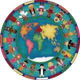 Hands Around the World™ Rug, 7'7 Round