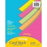 Pacon® Array® Card Stock, Hyper Assorted