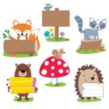 Designer Cut-Outs, Woodland Friends, 10