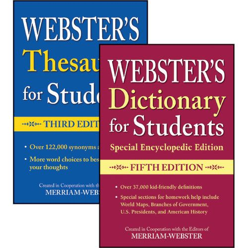 webster s dictionary thesaurus for students set fed9781596951693