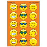 Emoji Cheer Stinky Stickers®, Large Round