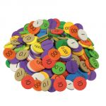 Sensational Math™ Place Value Discs, 10-Value Decimals to Whole Numbers, Set of 250
