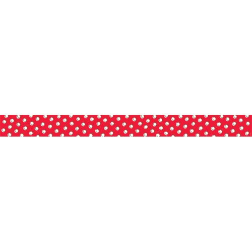 so much pun doodle dots on red border ctp8489