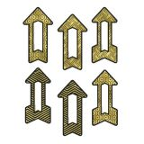 Colorful Cut-Outs® Assorted Designs, Black & Gold Arrows