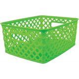 Woven Basket, Small, Lime