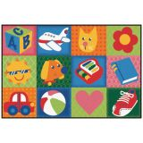 KID$ Value Rugs™, Toddler Fun Squares Rug, 4' x 6'