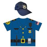 My 1st Career Gear for Toddlers, Police Top & Cap Set