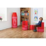 Softplay Crayon Seating, Red