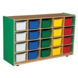 20-Tray Storage, 30H x 48W, With Color Trays, Green Apple™