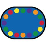 Lots of Dots™ Rug, 7'8 x 10'9 Oval, (16 dots), Primary