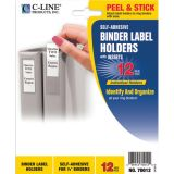 C-Line® Self-Adhesive Binder Labels, 3/4 x 2 1/16 (1/2 Binders)