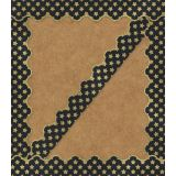 Sparkle Shine Gold Glitter Stars Scalloped Border