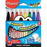 Ultra-Washable Broad Tip Markers, 8 colors