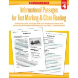 Informational Passages for Text Marking & Close Reading, Grade 4