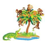 Five Monkeys Sitting in a Tree Flannelboard Set