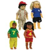 Sports Clothes for 16 Dolls