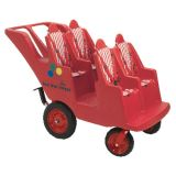 Bye-Bye Buggy® 4-Seat, Fat Tire w/Red Stripe Cushions