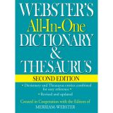 Webster's All-in-One Dictionary & Thesaurus