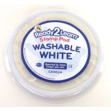 Jumbo Circular Washable Stamp Pad, White