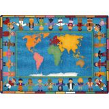 Hands Around the World™ Rug, 10'9 x 13'2 Rectangle