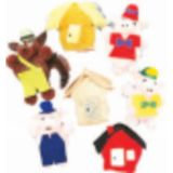 7-Character Monkey Mitt® Set, Three Little Pigs