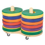 Softzone® Colorful Donut Cushions, 12-Piece Set with Small Cart