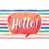 Watercolor Hello Postcards