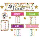 Confetti Happy Birthday Mini Bulletin Board Set
