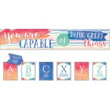 Watercolor You Are Capable of Doing Great Things Bulletin Board Set