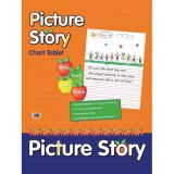 Picture Story Chart Tablet, 24 x 32, 1 1/2 Ruled with 7 Picture Space at Top