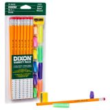 Dixon® Variety Pack, #2 Pencils, Erasers, Pencil Grips