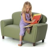 Just Like Home Preschool Sofa, Enviro-Child Upholstery, Sage