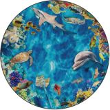 Into the Sea PhotoFun Rug™, 6' Round
