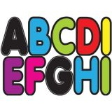 2-3/4 Designer Magnetic Letters, Assorted Colors