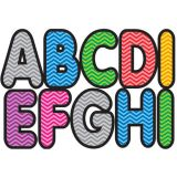 2-3/4 Designer Magnetic Letters, Assorted Color Chevron
