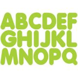 1-3/4 Magnetic Letters, Lime