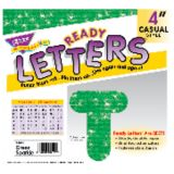 4 Uppercase Casual Ready Letters®, Green Sparkle