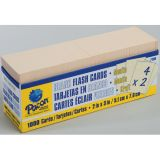 Blank Flash Cards, Manila, 3 x 2, Box of 1,000