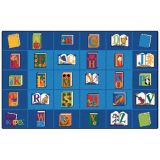 Reading by the Book Seating Rug, 7'6 x 12' Rectangle