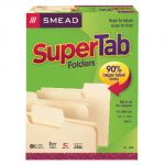 Smead® SuperTab® Letter Size Folders, Manila, Box of 100