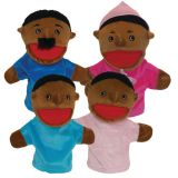 Family Puppets, African-American, Set of 4